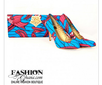FahsionGhana_blue_clutch_shoes
