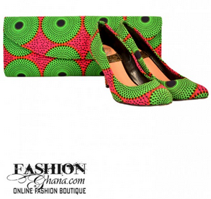 FashionGhana_green_clutch_shoes