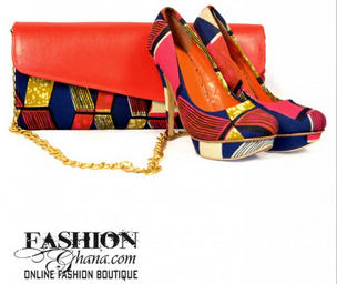 FashionGhana_red_clutch_shoes
