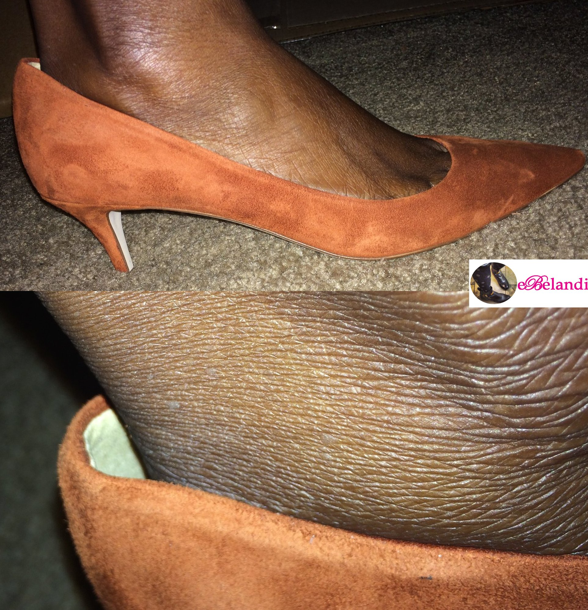 Suede Kitten Heel Shoes - Is Heel